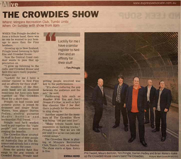 the crowdies show press article1